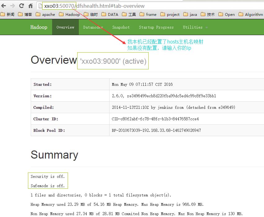 测试hadoop HDFS