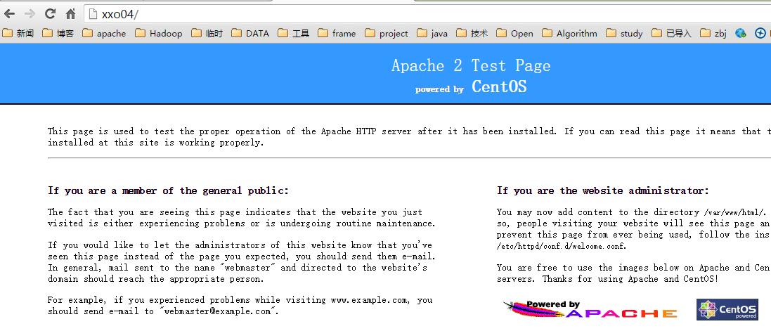 运行Apache
