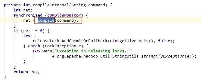 调用compile()方法,做语法,语义,计划生成