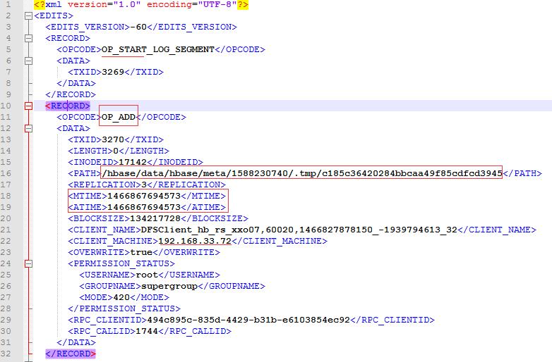 导出的edits.xml文件
