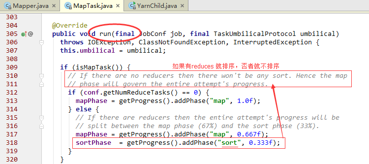 taskFinal的一个实现类是MapTask