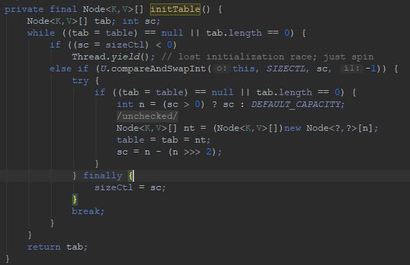 Java8 ConcurrentHashMap init源码