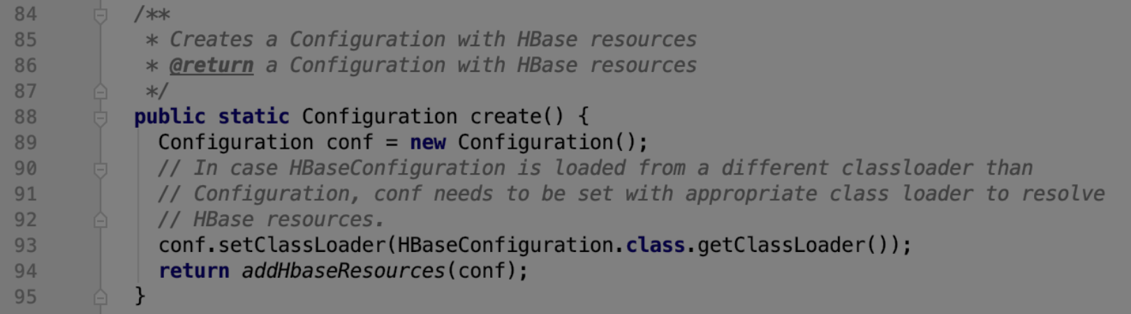 hbase HBaseConfiguration的create
